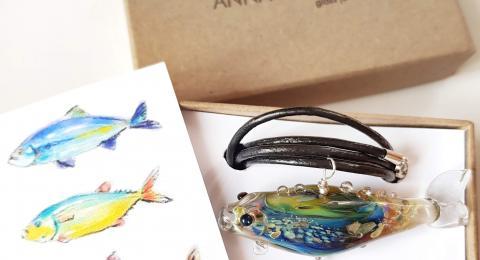 кулон рыба стекло упаковка