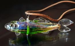 кулон рыба, рыба лэмпворк, рыба лампворк, рыба стекло, glass fish, lampwork fish