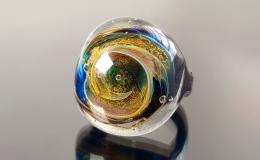 перстень лэмпворк, кольцо лампворк, кольцо стекло, стеклянный перстень, кольцо галактика стекло, перстень галактика лэмпворк, кольцо вселенная, космос лэмпворк