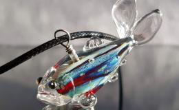 рыба кулон, рыба стекло, рыба лэмпворк, стеклянная рыбка кулон, рыба муранское стекло