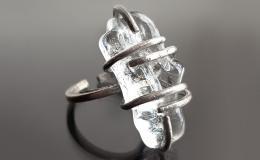 кольцо лед, кольцо лэмпворк, кольцо с льдинкой, стекло муранское, кольцо мурано, купить кольцо муранское стекло