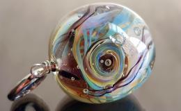 кулон шар лэмпворк, галактика лэмпворк