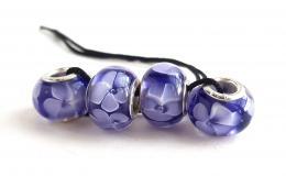 бусины для браслетов, бусины сирень, сирень стекло, фиолетовые шармы, голубые цветы стекло, лэмпворк купить